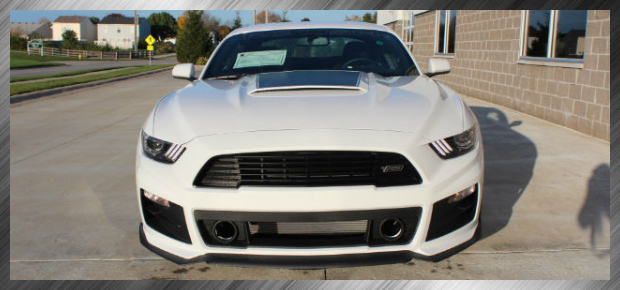 White Roush Mustang