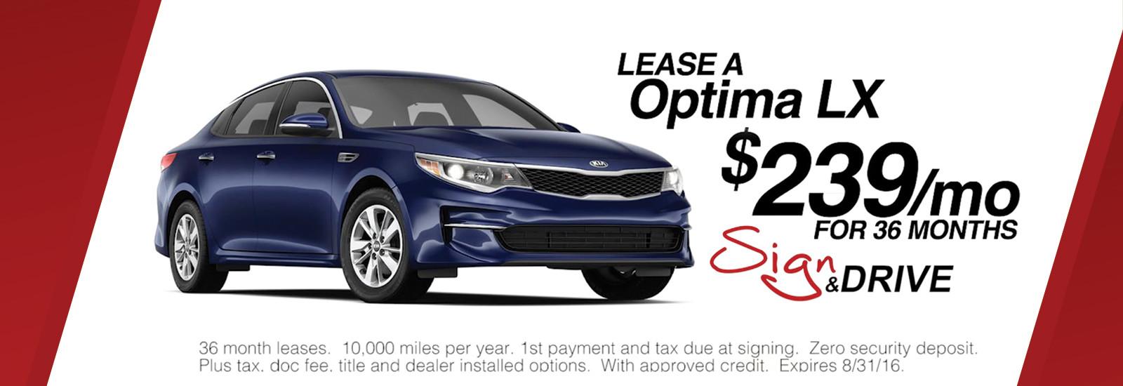 Optima Sign & Drive $239/mo