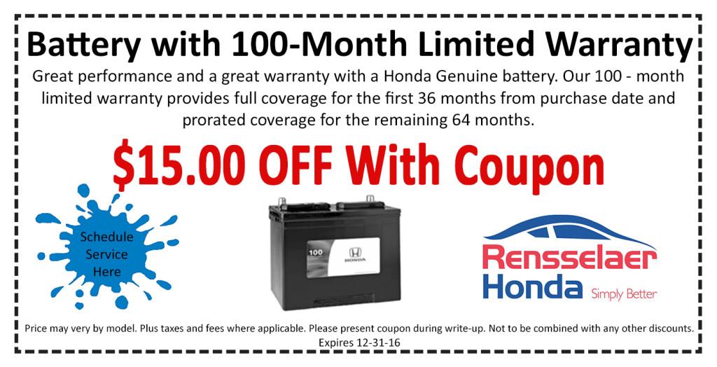 Auto service specials albany rensselaer honda for Honda a1 service coupon