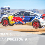 Honda's Joni Wiman finished sixth in Honda's Red Bull Global Rallycross debut Saturday in Phoenix. Teammate Sebastian Eriksson, scored Honda its first podium, with a third-place finish on Sunday.