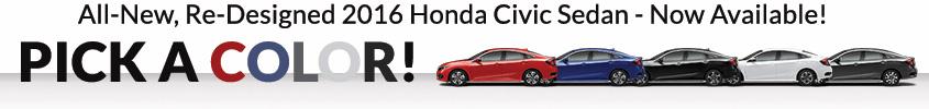 Richards Honda 2016 Civic Pick a Color