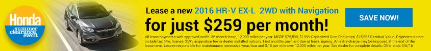 Summer Clearance 2016 Honda HR-V