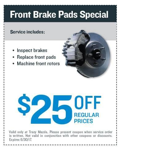 Front Brake Pads Special Coupon