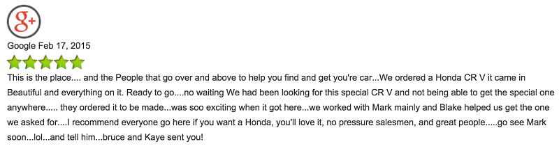 our first car dealership reviews are in walla walla valley honda. Black Bedroom Furniture Sets. Home Design Ideas
