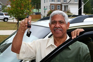 Minority man who just bought a new car