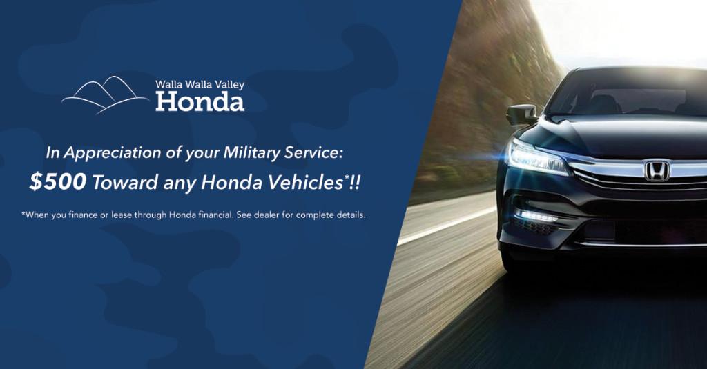 Military Bonus Offer